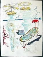 Imagine And Objects of the Future, 11 Prints Wtih Wooden Case  1975 Limited Edition Print by Salvador Dali - 4