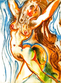Les Chevaux Dalinians: La Femme Cheval 1971 Limited Edition Print - Salvador Dali