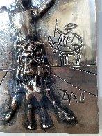 Don Quixote Silver Bas Relief Sculpture 27x34 Sculpture by Salvador Dali - 3