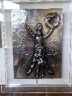 Don Quixote Silver Bas Relief Sculpture 27x34 Sculpture by Salvador Dali - 2