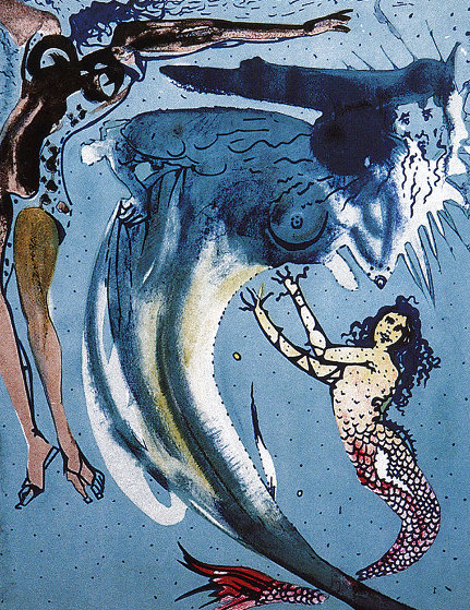 Hans Christian Anderson Tales: Little Mermaid 1966 Limited Edition Print by Salvador Dali
