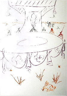 La Quete Du Graal 1975 Limited Edition Print - Salvador Dali