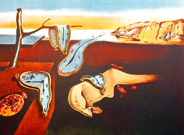 Changes in Great Masterpieces: Persistence De La Memoire 1974 Limited Edition Print - Salvador Dali