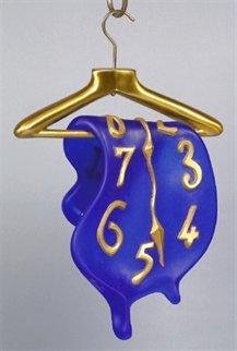 Montre Molle Daum Bronze/Glass Sculpture 18 in Sculpture - Salvador Dali