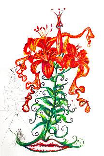 Florals Tiger Lilies 1972 Limited Edition Print - Salvador Dali