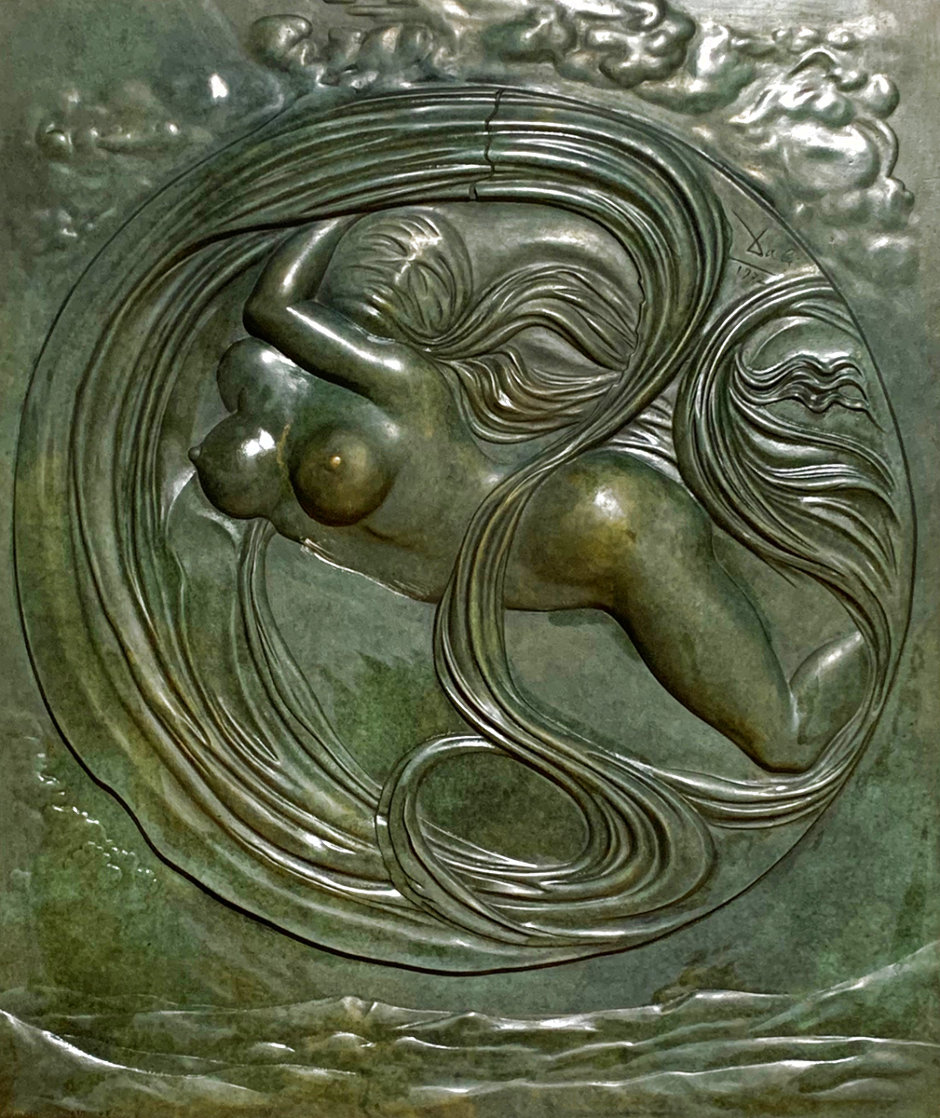 Eva Espacial Bronze Sculpture 1972 36x32 Sculpture by Salvador Dali
