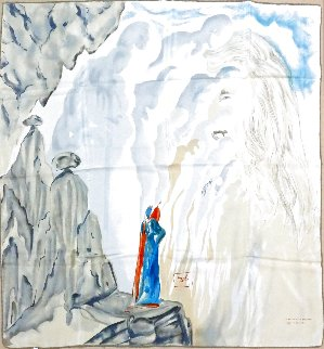 La Belleza De Las Esculturas Purgatorio, Canto XII Silk Scarf 1988 35x35 Other - Salvador Dali