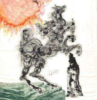 Cerbero. El Can Del Inferno - Canto VI Silk Scarf 1988 35x35 Other - Salvador Dali
