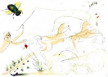 Fables: Le Bestiaire De La Fontaine: Le Coche Et Le Mouche 1974 Limited Edition Print - Salvador Dali