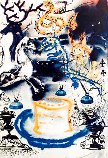 Alice in Wonderland: Who Stole the Tarts? 1969 Early Limited Edition Print - Salvador Dali