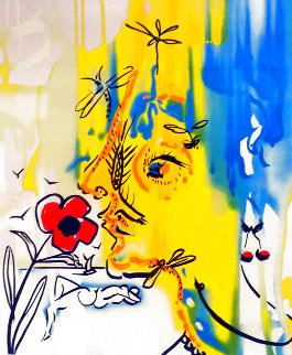 Fleurs Surrealistes  Gala's Bouquet And Vanishing Face, Suite of 2 1980 Limited Edition Print - Salvador Dali