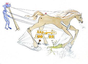 Hommage a Leonardo Da Vinci: Westinghouse Air Brake  1975 Limited Edition Print - Salvador Dali