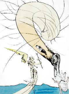 After 50 Years of Surrealism: Freud With Snail Head 1974 Limited Edition Print - Salvador Dali