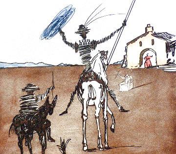 Historia De Don Quichotte De La Mancha Impossible Dream: Set of 3 Prints  1980 #1 Limited Edition Print - Salvador Dali