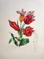 Florals Tulips Girafe En Feu 1972 Limited Edition Print by Salvador Dali - 1