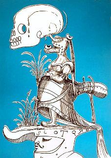 Les Songes Drolatiques de Pantagruel (Blue) 1974 Limited Edition Print - Salvador Dali
