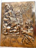 Ten Commandments Gold Sculpture 1979 25 in Sculpture by Salvador Dali - 5