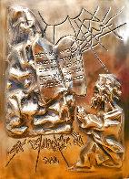 Ten Commandments Gold Sculpture 1979 25 in Sculpture by Salvador Dali - 2