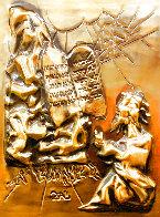 Ten Commandments Gold Sculpture 1979 25 in Sculpture by Salvador Dali - 4