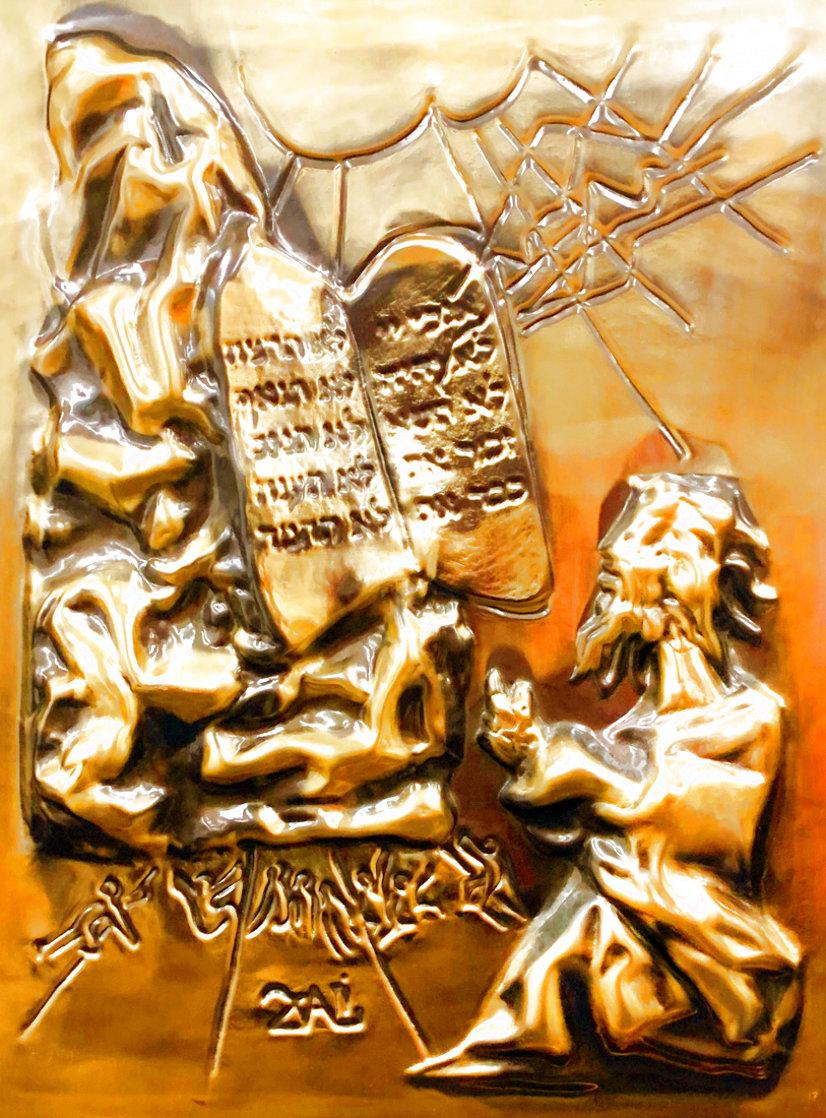 Ten Commandments Gold Sculpture 1979 25 in Sculpture by Salvador Dali