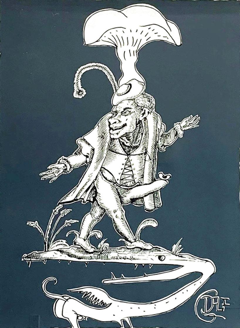 Les Songes Drolatiques de Pantagruel (Grey) 1974 Limited Edition Print by Salvador Dali