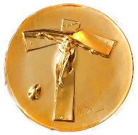 Easter Christ 24kt Gold on Silver Plate 1972 9 in Sculpture by Salvador Dali - 0