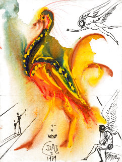 Le Grand Pavon  (The Great Peacock) 1979 Limited Edition Print - Salvador Dali