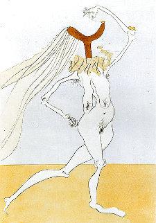 Nu Aux Voilettes  1975 Limited Edition Print - Salvador Dali