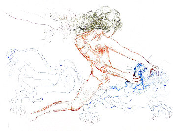 Famous Loves: Samson And Delilah   1972 (Early) Limited Edition Print - Salvador Dali