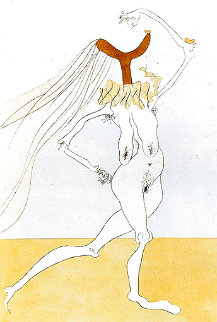 Nu Aux Voilettes (Nude With Veils, White) 1975 Limited Edition Print - Salvador Dali