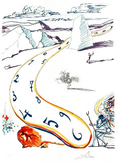 Imaginations and Objects: Melting Space Time 1975 Limited Edition Print - Salvador Dali