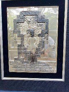 Lincoln in Dalivision Sterling Silver Wall Sculpture 1976 15 in Sculpture - Salvador Dali