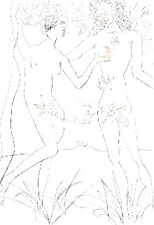 Les Amours Celebres: Adam and Eve 1973 Limited Edition Print - Salvador Dali