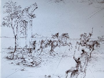 Consultation Guerriere Drawing  1964 26x31 Drawing - Salvador Dali