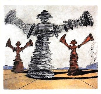 Spinning Man 1981 Limited Edition Print - Salvador Dali