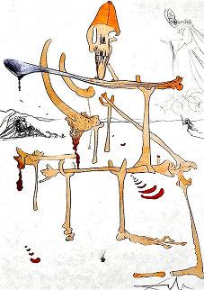 Paysage Avec Squelette 1975 Limited Edition Print - Salvador Dali