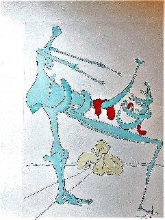 Silhouette En Vert 1975 Limited Edition Print - Salvador Dali
