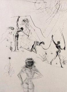 La Venus Aux Fourrures the Negresses 1968 Limited Edition Print - Salvador Dali