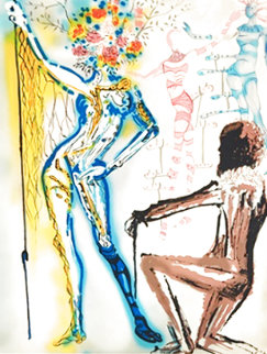 Fashion Designer: Ballet of Flowers / Coutuier 1980 Limited Edition Print - Salvador Dali