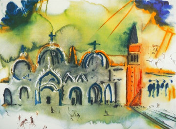 La place Saint-Marc à Venise EA 1978 Limited Edition Print - Salvador Dali