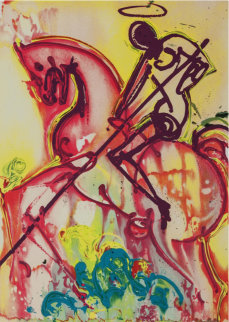 Dalinean Horse Suite: St. George And the Dragon 1983 Limited Edition Print - Salvador Dali