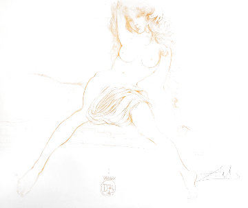 Nudes Young Woman Arising 1970 (Early) Limited Edition Print - Salvador Dali