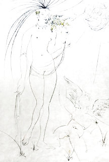 Hommage a Albrecht Durer Venus and Cupid 1971 (Early) Limited Edition Print - Salvador Dali