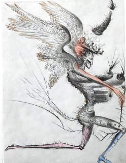 Winged Demon  From  La Venus Aux Fourrures 1968 (Early)  Limited Edition Print - Salvador Dali