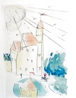 Chateau De Vascoeil 1973 Limited Edition Print - Salvador Dali