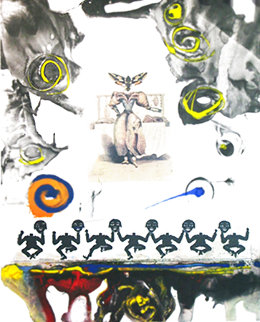 Memories of Surrealism Surrealist Gastronomy Trial Proof 1971 Works on Paper (not prints) - Salvador Dali