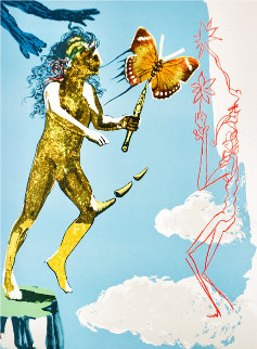 Magic Butterfly and The Dream,  Suite of Two Prints 1978 Limited Edition Print - Salvador Dali