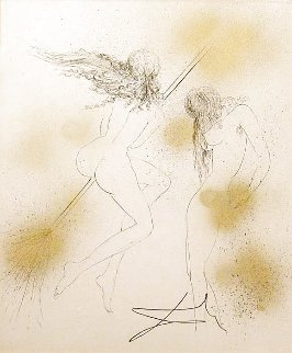 Sorcie'res Au Balai (Witches With Broom)  Faust Portfolio 1969 (Early)  Limited Edition Print - Salvador Dali