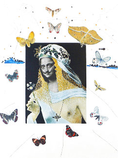 Memories of Surrealism: Surrealiste Portrait of Dali Surrounded By Butterflies 1971 Limited Edition Print - Salvador Dali