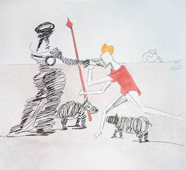 Pastorale 1980 Limited Edition Print by Salvador Dali